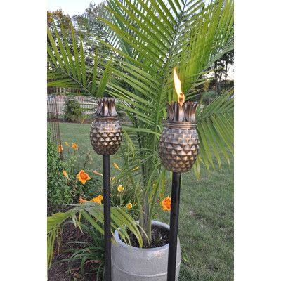 Pineapple Tiki Torches