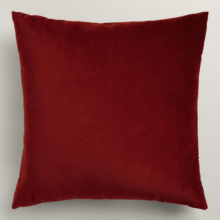 Crafted of luxurious cotton velvet, our festive red throw pillow lends a classic note to any room. Combine this exclusive accent with our other velvet pillows in an array of chic colors to refresh your decor instantly.