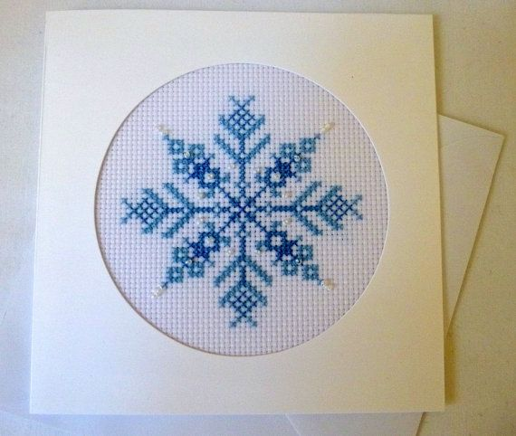 Handcrafted Christmas Card Decorative Beaded by GillyCrafts