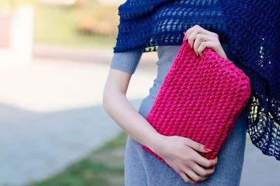 Pink Bag   Knit Pink Bag    Laptop bag   Evening Bag   Evening #pinkbag, #laptopbag, #pinklaptopcover, #Knittingpinkbag