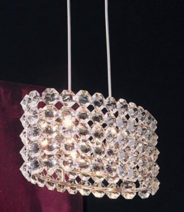 A Little Bit Of Lighting Bling For You! The Baccarat Nickel Ceiling Pendant  By Marchetti