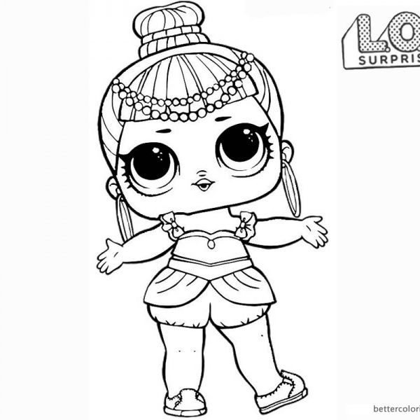 Lol Surprise Doll Coloring Pages Series 2 Genie Dibujos Para