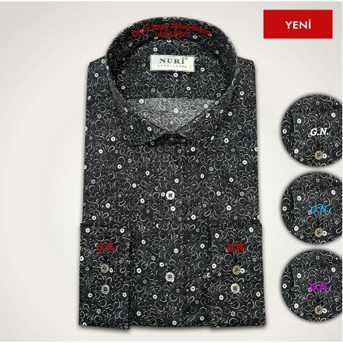 Kişiye Özel Dikim Floral Desen İsimli Erkek Gömlek Siyah 119,00 TL ve ücretsiz kargo ile n11.com'da! Gömlekçi Nuri Spor Gömlek fiyatı Erkek Giyim