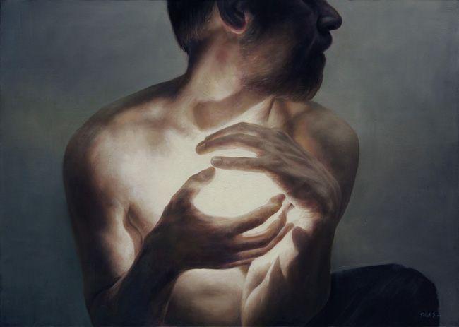 """su cuerpo dejarán, no su cuidado;  serán cenizas, mas tendrán sentido;  polvo serán, mas polvo enamorado.  (((extracto de un poema de Francisco de Quevedo)))  *arte: """"The Light IV"""" by Truls Espedal"""