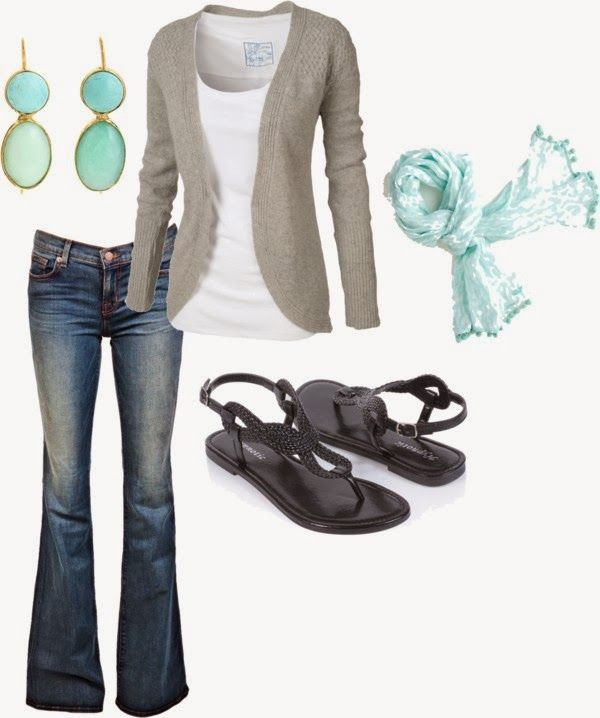Get Inspired by Fashion: Casual Outfits | Grey and Blue