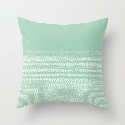 Riverside - Hemlock Throw Pillow by Jacqueline Maldonado - $20.00