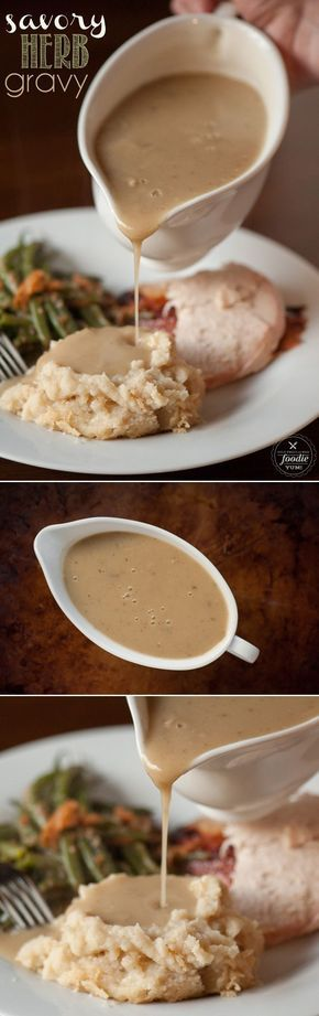 No Thanksgiving is complete without this undeniably delicious Savory Herb Gravy which is simple to make from turkey giblet stock.