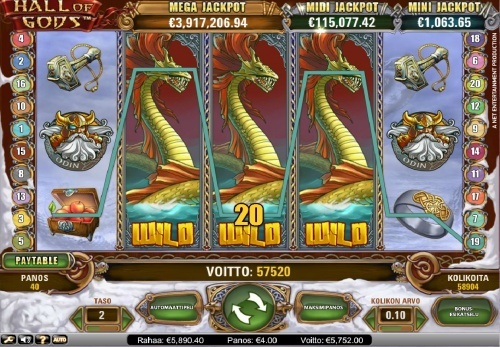 Big Win 5752€ on Hall of gods slot with 4€ bet!