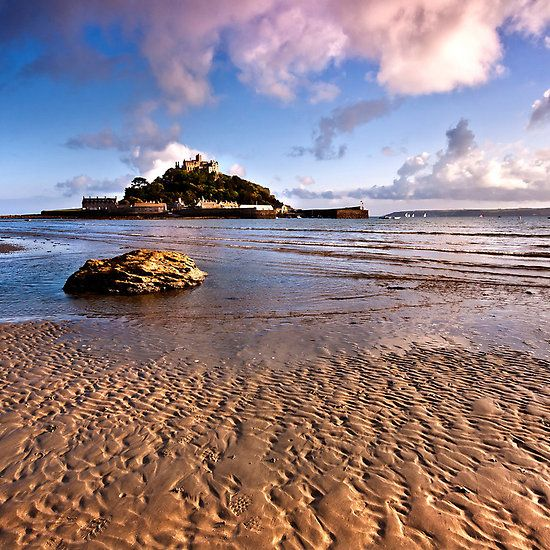 St Michaels Mount And Sailing Boats