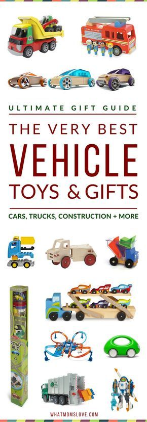 Gift Ideas For Vehicle Lovers | Best Toys For Car, Truck, Construction, Machines and Things That Go For Kids | Best Gifts For Boys | All recommendations have been kid-tested, and include detailed descriptions with age range and price | visit http://whatmomslove.com for all our popular kid's gift guides!