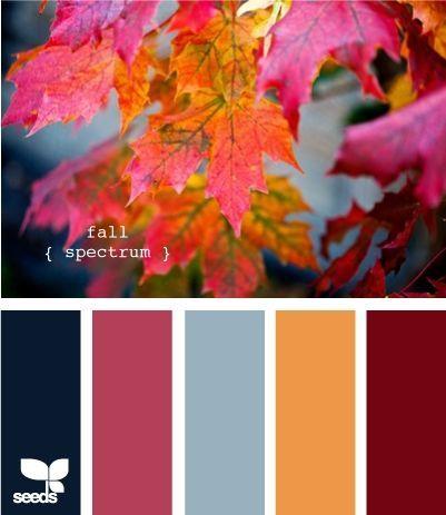 Blue, Red, Orange