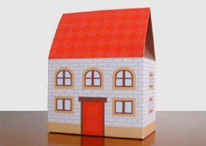 家の形のギフトボックス。