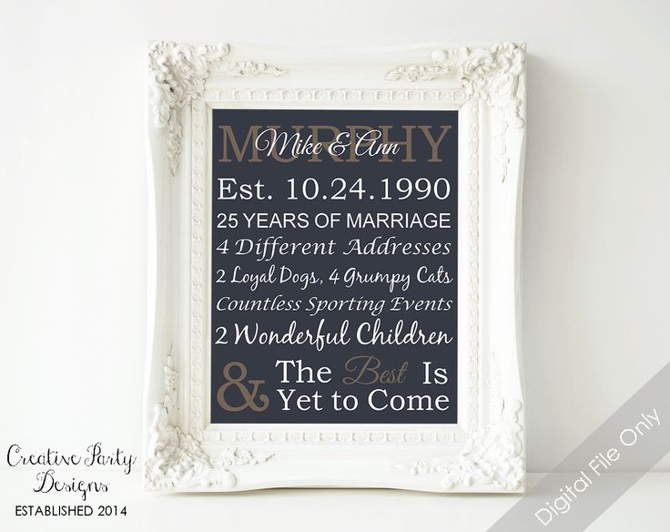 What Gift For 25th Wedding Anniversary: 94 Best Images About Gift Ideas On Pinterest