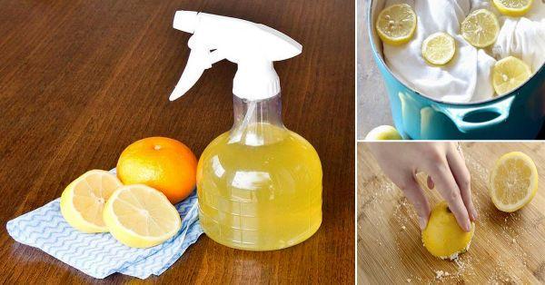 Los limones, las limas, las naranjas y los pomelos son excelentes para limpiar y desinfectar el hogar, especialmente cuando se los combina con otros productos, como el vinagre y el bicarbonato de sodio. Los cítricos contienen d-limoneno, un solvente natural que ayuda a eliminar la grasa y la tierra. Además, dejarán un delicioso aroma fresco en tu hogar. Sigue leyendo para aprender cómo usarlos.   Para la ropa 1. Friega las manchas de sudor debajo de las axilas aplicando sobre la prenda una…