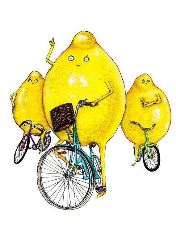 Ветерану, смешные рисунки с лимоном
