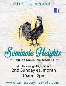 Tampa Bay Markets » Seminole Heights Sunday Morning Market