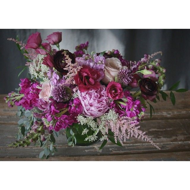 Wine lisianthus and pink peony delivery design from Sullivan Owen. Call 215-964-9790 to order for yourself or for a friend!