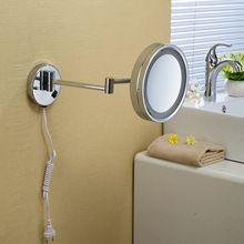 """Bad Spiegels 8 """"Wandmontage Ronde Een Kant Badkamer Spiegel LED Make Cosmetische Spiegel Vergrootglas dame Prive Spiegel 2098(China)"""