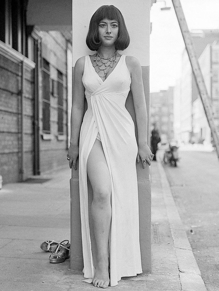 Helen Mirren, at 18, between rehearsals for Antony and Cleopatra at the Old Vic in 1965.