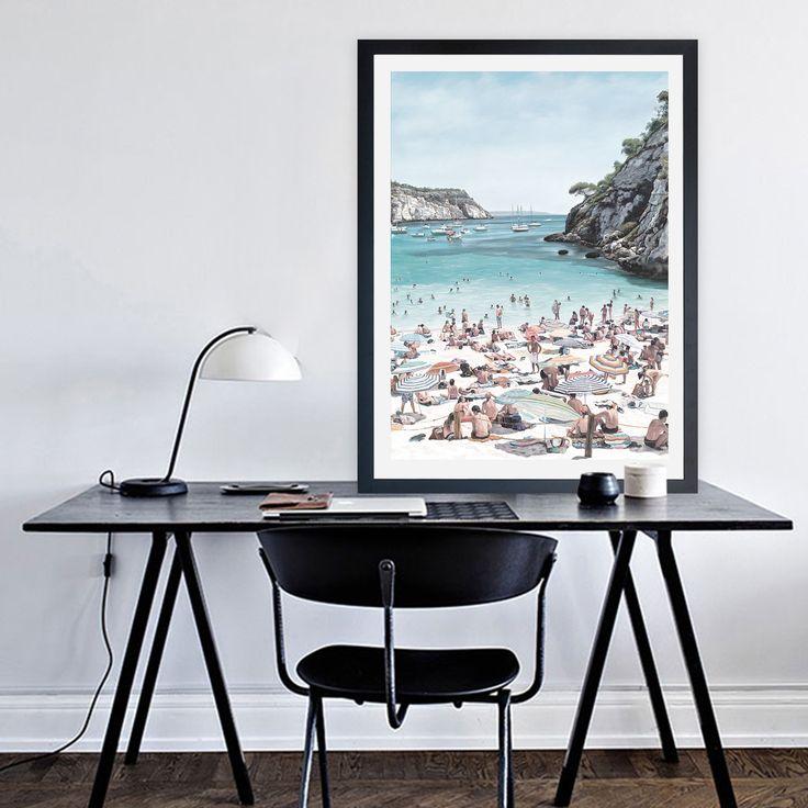 """European Cove Canvas"" Art Print By The Print Emporium     WWW.THEPRINTEMPORIUM.COM.AU  #ThePrintEmporium #wallart #artprint #interiorinspo #beach #coastal #art #beach #surf #artwork #tropical #ocean #vacation #wallart #decor #interior"