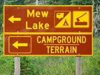 Mew Lake Campground Sign