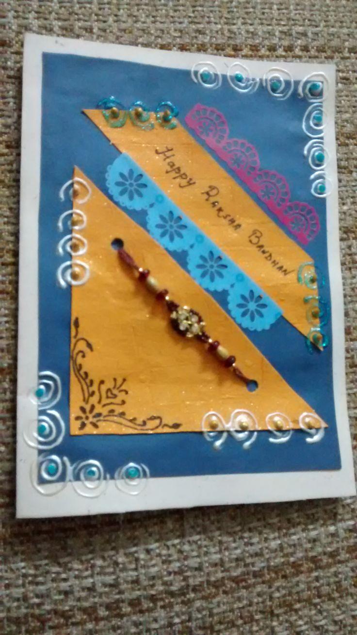 17 best rakhi card designes images on pinterest  diy