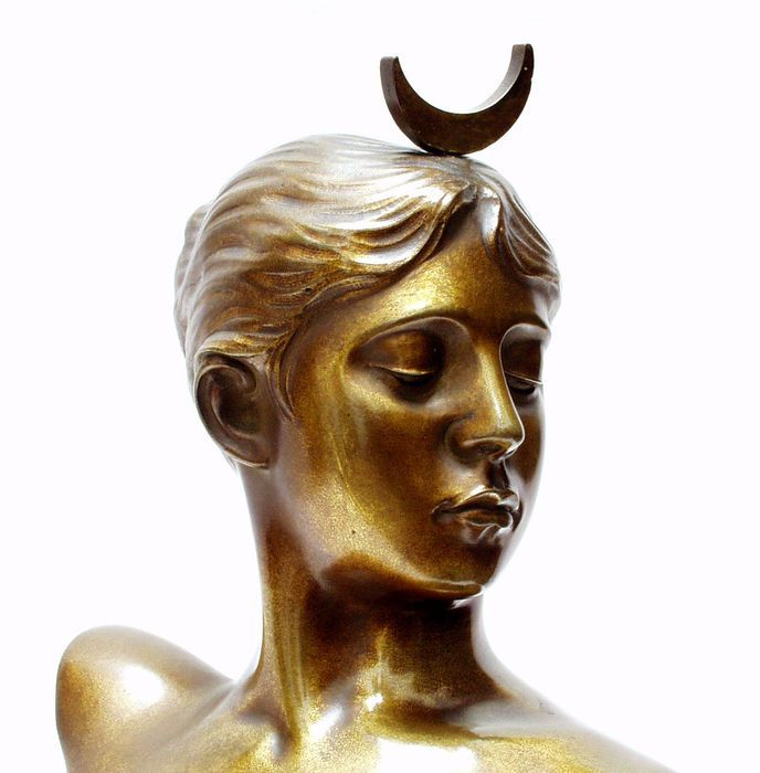 Online veilinghuis Catawiki: Jean Alexandere Joseph Falguiére (1831-1900) - Diana - bronzen sculptuur