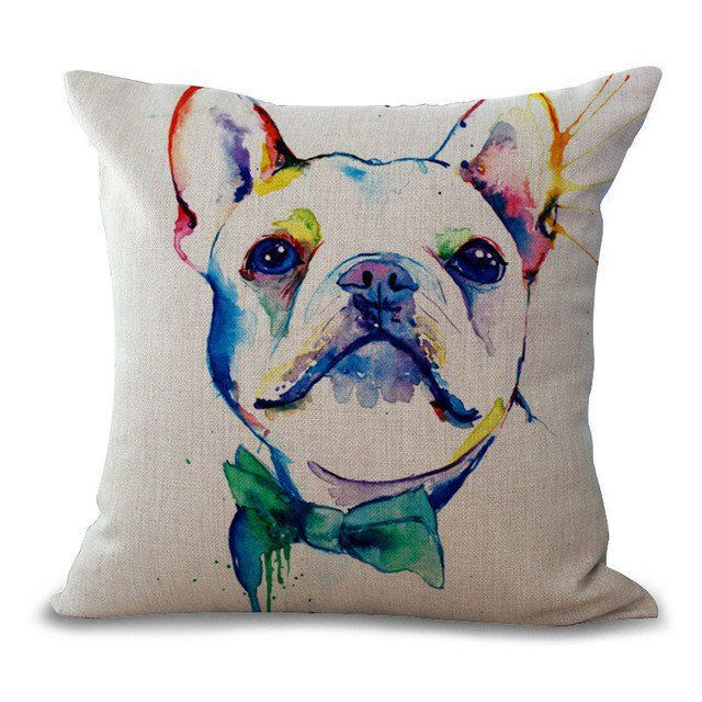 Colorful Dog Art Pillow Cases