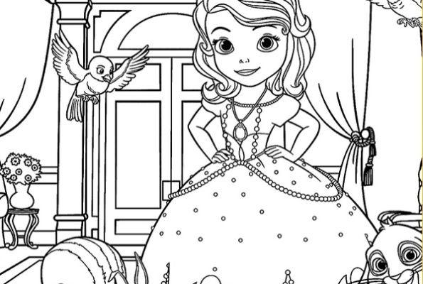 דפי צביעה הנסיכה סופיה Coloring Pages Kids דפי צביעה