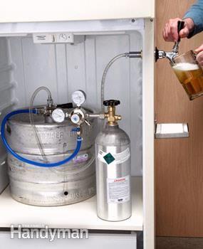 #HowTo Make a Kegerator - Get the #DIY project: http://www.familyhandyman.com/basement/man-cave-ideas