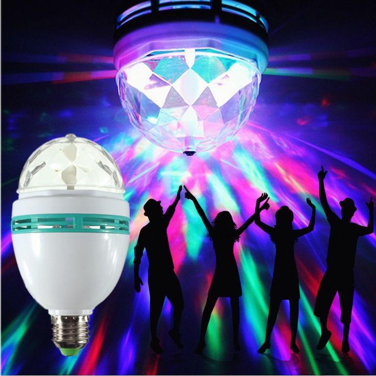 자동 회전 매직 볼 전구 E27 6 와트 RGB 램프 무대 크리스마스 다채로운 홈 DJ 파티 댄스 장식
