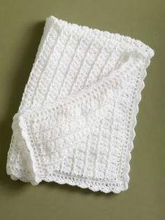 This is my favorite baby afghan pattern. It crochets fast, and it is easiy. Its also free. – Laurel siddons