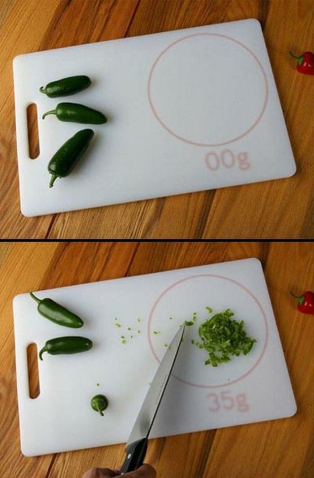 Scale meet chopping board