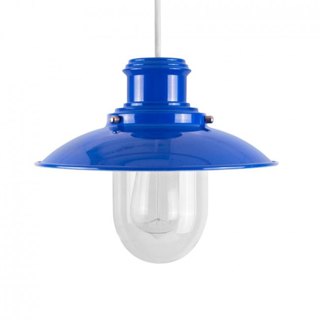 Fisherman Style Pendant Shade In Chrome Lights Ceiling