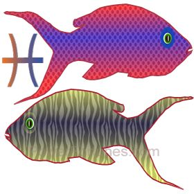 Astrology Zodiac Signs, Pisces. The less flamboyant of the Sun Signs. Details of the Piscean nature, compatibility and some famous Pisceans.