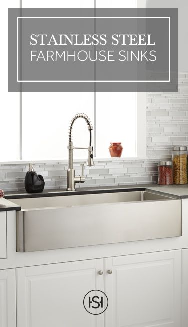 Professional kitchen performance with looks fit for a home. Stainless steel farmhouse sinks bring a classic look up to date with their sleek style and lasting durability.