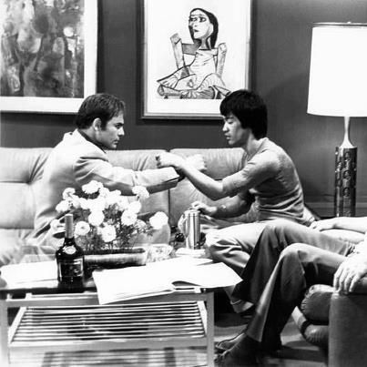 Bruce Lee and Co-Star John Saxon.