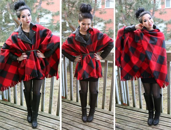 Syl and Sam: tutorial - diy blanket poncho