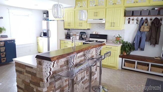Custom DIY Rolling Kitchen Island - Reality Daydream