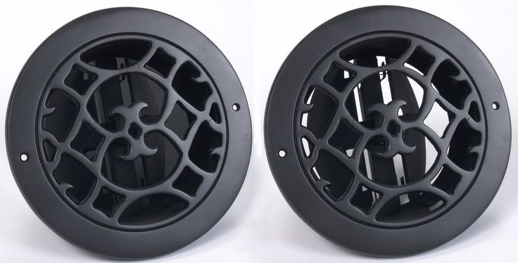 Round Air Vent covers with adjustible air flow, Round Air Registers, Circular Grill Covers