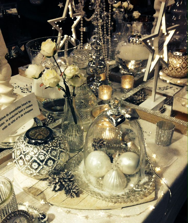 Christmas table decorations Winter Wonderland @ Intratuin IJsselstein #pintratuin #DIY