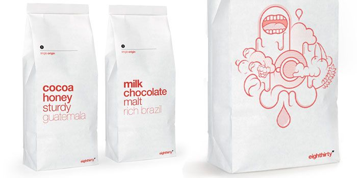 Originally designed in 2009 Eighthirty Coffee Roasters asked Butcher & Butcher ltd to refresh their packaging for 2013.