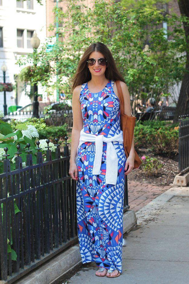 MULTICOLORED MAXI DRESS - GOLD COAST GIRL fashion, women's fashion, street style, blog, chicago, style, maxi dress, old navy, venus fashion
