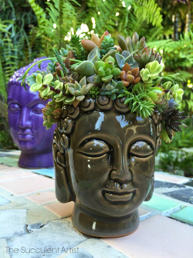 Inspire Bohemia: Buddha Head Succulent Planter