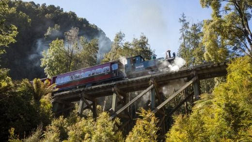 The West Coast Wilderness Railway is a reconstruction of the Mount Lyell Mining and Railway Company railway between ...