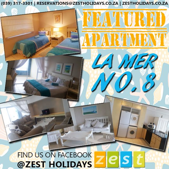 OUR WEEKLY FEATURED APARTMENT! Book for the best #coastalholiday ! #GottaLuvKZN #KZNSouthCoast