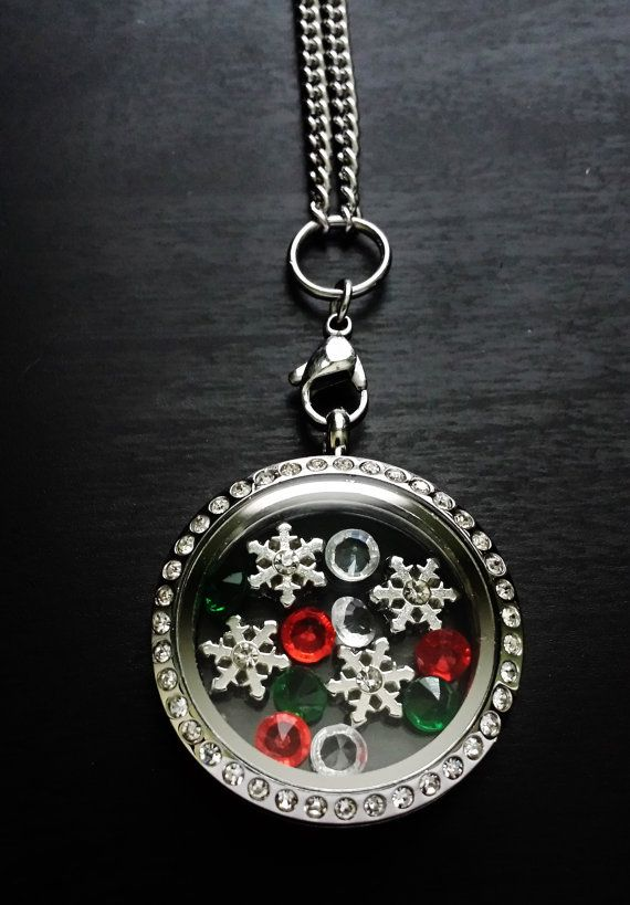Holiday Floating Locket Necklace-Included Chain & by PrettyPalazzo