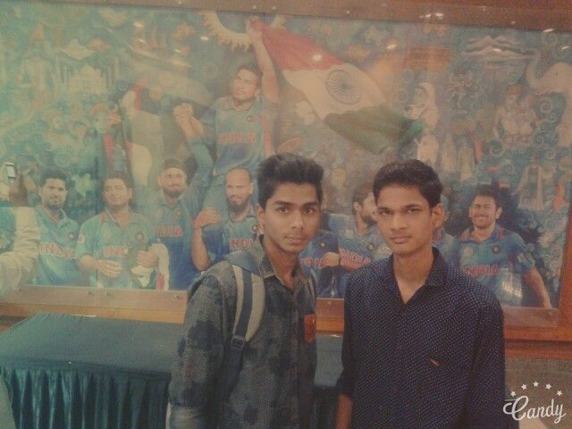 With cricketers