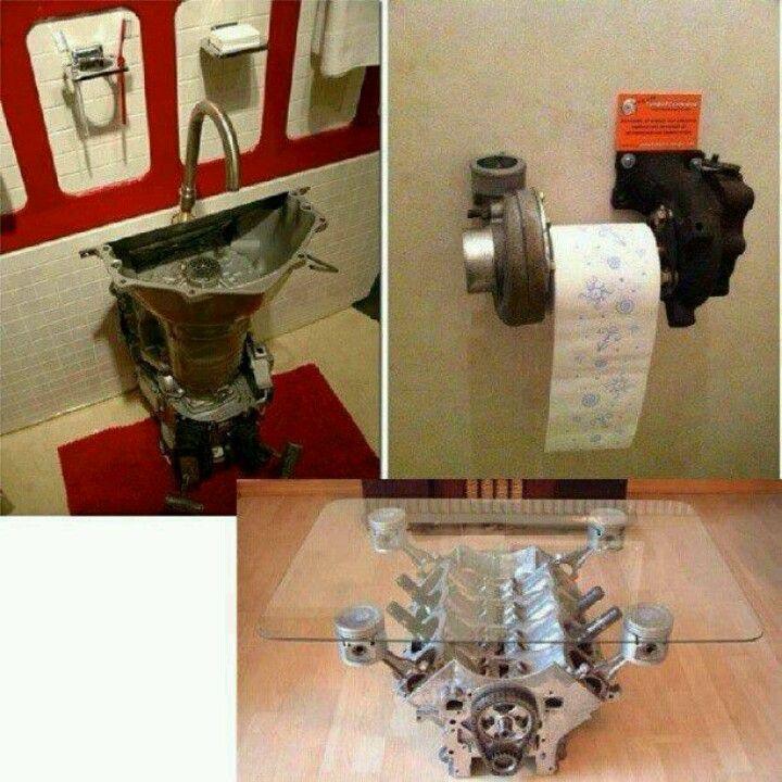 Harley Davidson Home Decor. See More. Manu0027s Bathroom N Living Room Ideas