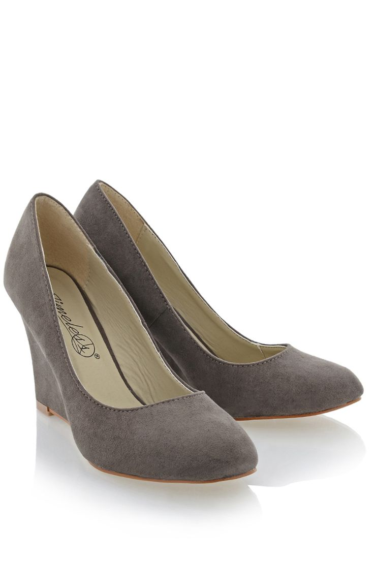 #TIMELESS 	 TILDA Gray Suede Wedges   Price: € 54.90